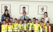 przedszkolaki z burmistrzem