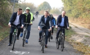 otwarcie i przejazd nową ścieżką rowerową Barlinek - Dzikowo